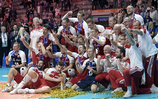 Polish National Men's Volleyball Team Wins The World Championship