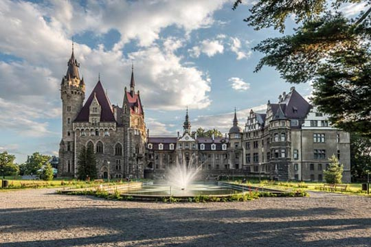 The castle in Moszna