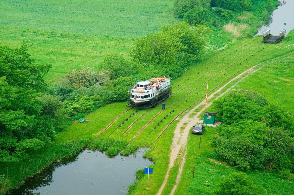 Elblag Canal - sailing over water and dry land