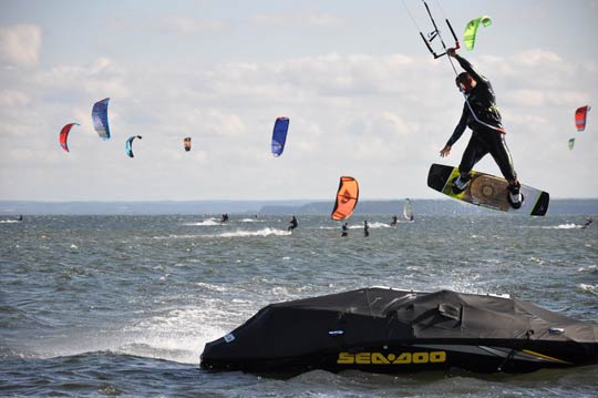 Kitesurfing in Poland