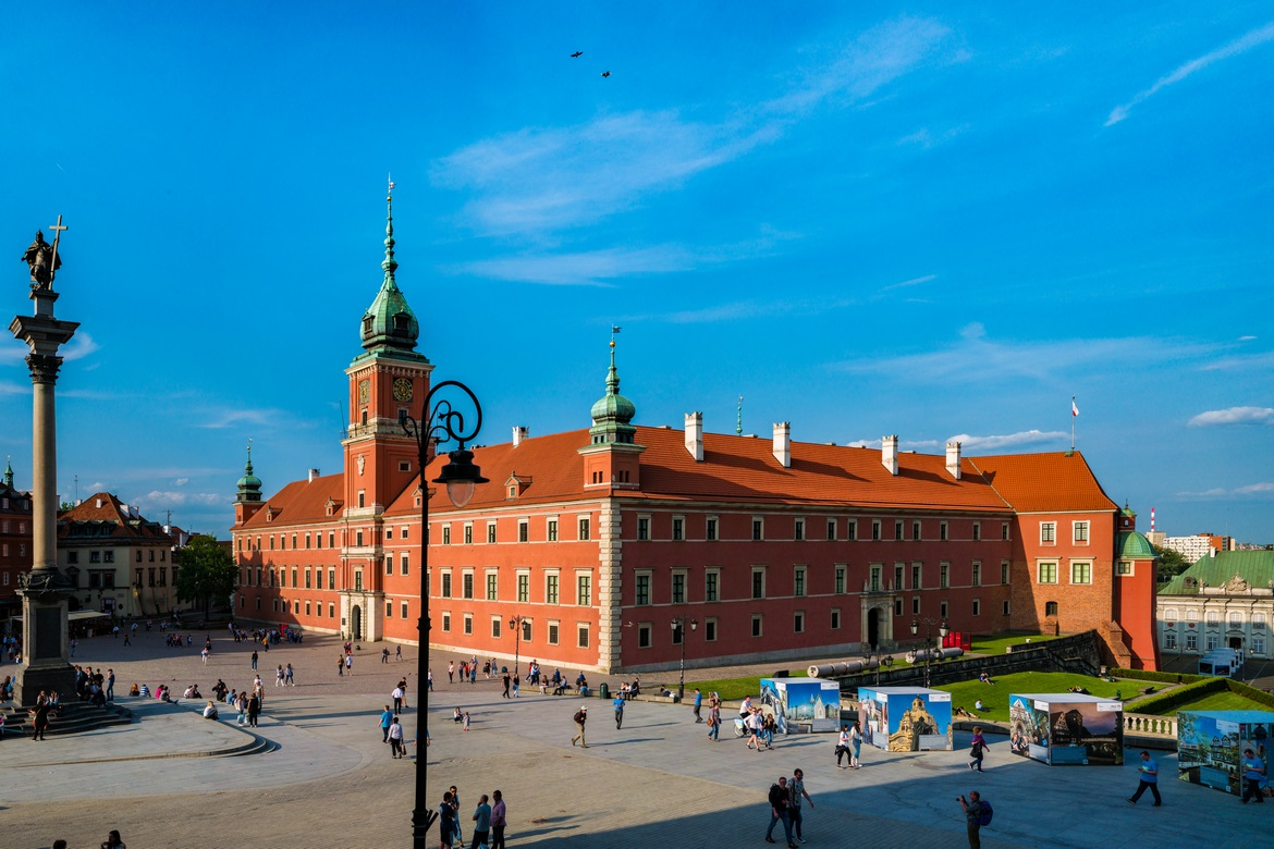 The Royal Castle, located in the Old Town in Warsaw, listed as a UNESCO World Heritage Site in 1980