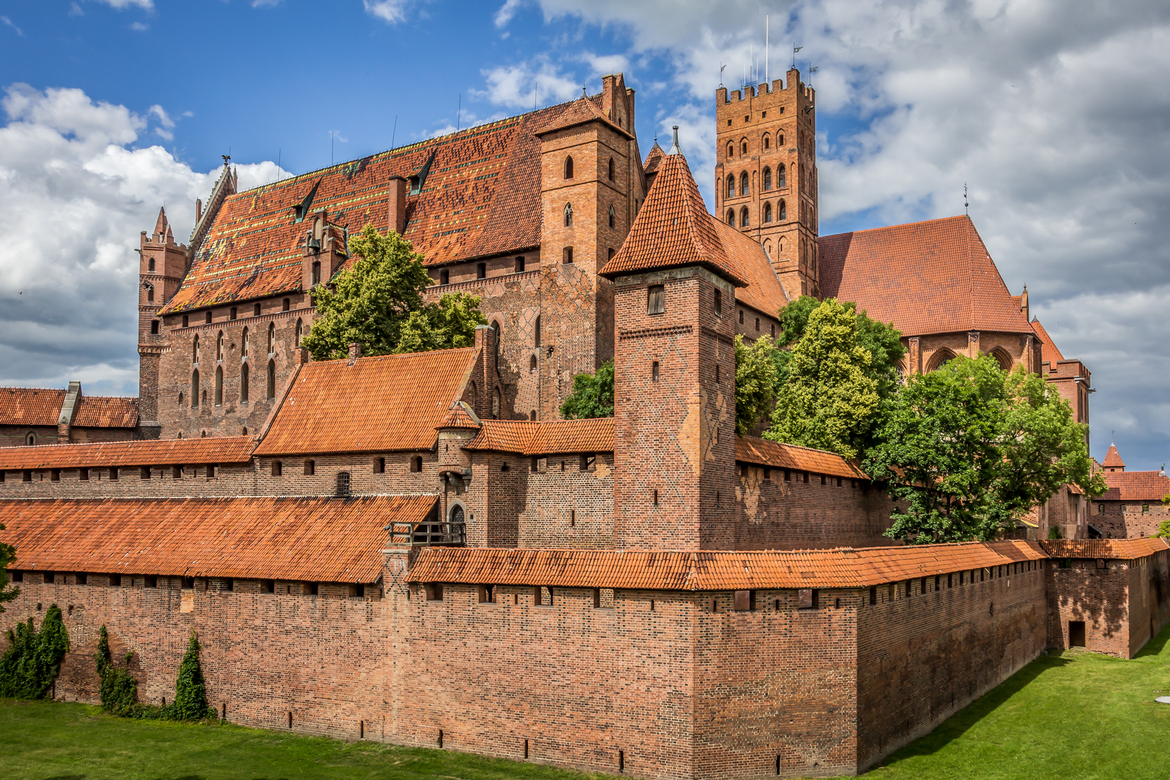 The Malbork Castle Museum situated in the former castle of the Teutonic Order in Malbork, listed as a UNESCO World Heritage Site